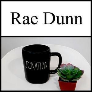 NEW Rae Dunn JONATHAN Name Black Mug